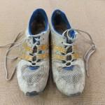 思い出がたくさんつまった靴を綺麗にしました