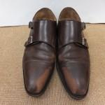 履きこんだ革靴を綺麗にしました