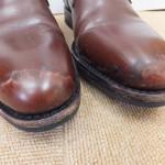革靴が雨で濡れてしまったら…